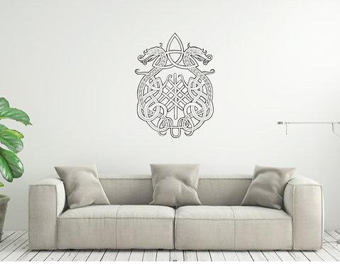 Norse Symbol Dragons custom vinyl wall decal