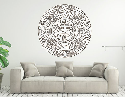 Aztec Medallion custom vinyl wall decal