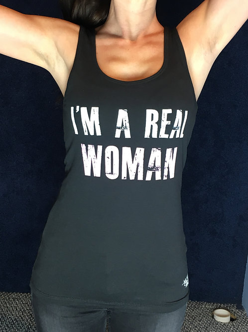 Real Woman Black Tank