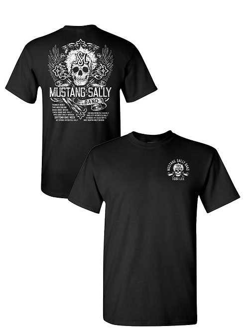 2-sided Men's Black Skull Tee