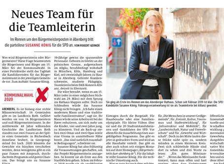 """Zeitungsbericht: """"Neues Team für die Teamleiterin"""""""
