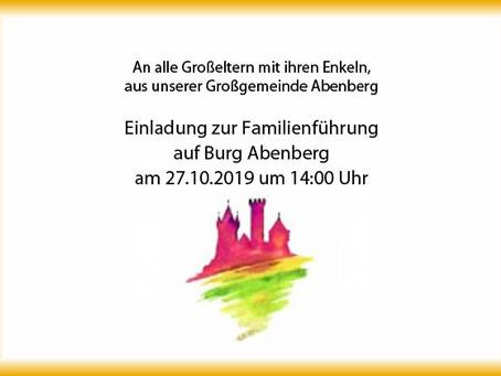 An Großeltern und Enkel aus unserer Großgemeinde: Einladung zur Familienführung auf Burg Abenberg