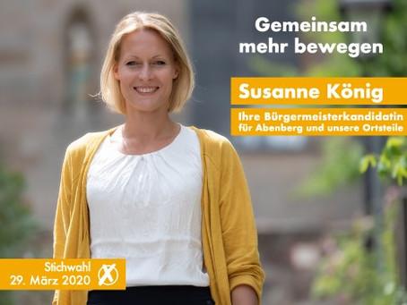Stichwahl am 29.03.2020. Bitte unterstützen Sie mich mit Ihrer Stimme!
