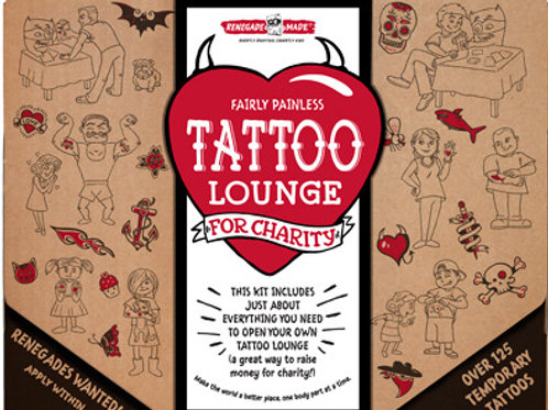 Fairly Painless Tattoo Lounge for Charity by Renegade Made