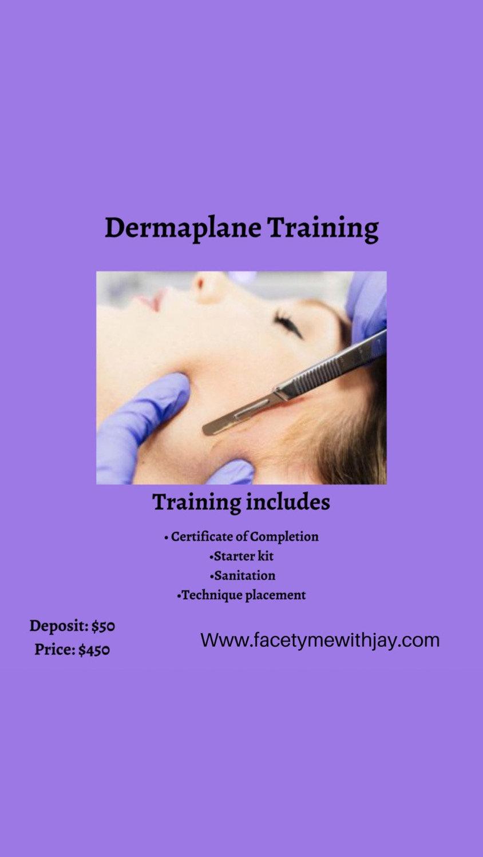 Dermaplane training