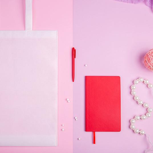 Набор подарочный CONCEPT L: бизнес-блокнот, ручка, сумка, серый