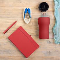 Набор подарочный SILKYWAY: термокружка, блокнот, ручка, коробка, стружка, красный