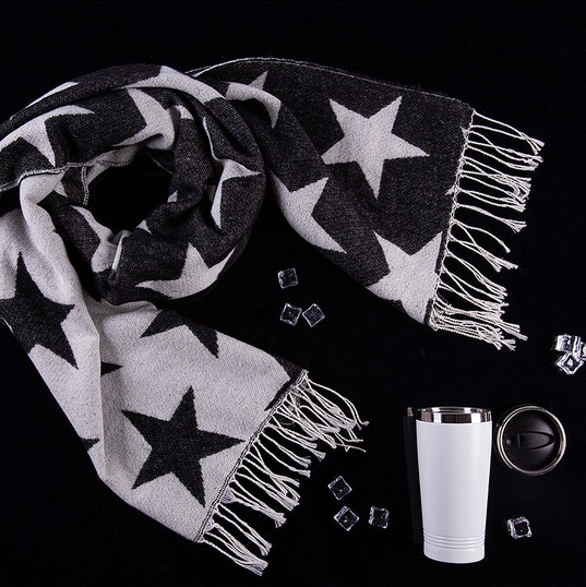 Набор подарочный STAR ROMANCE: шарф, термокружка, коробка