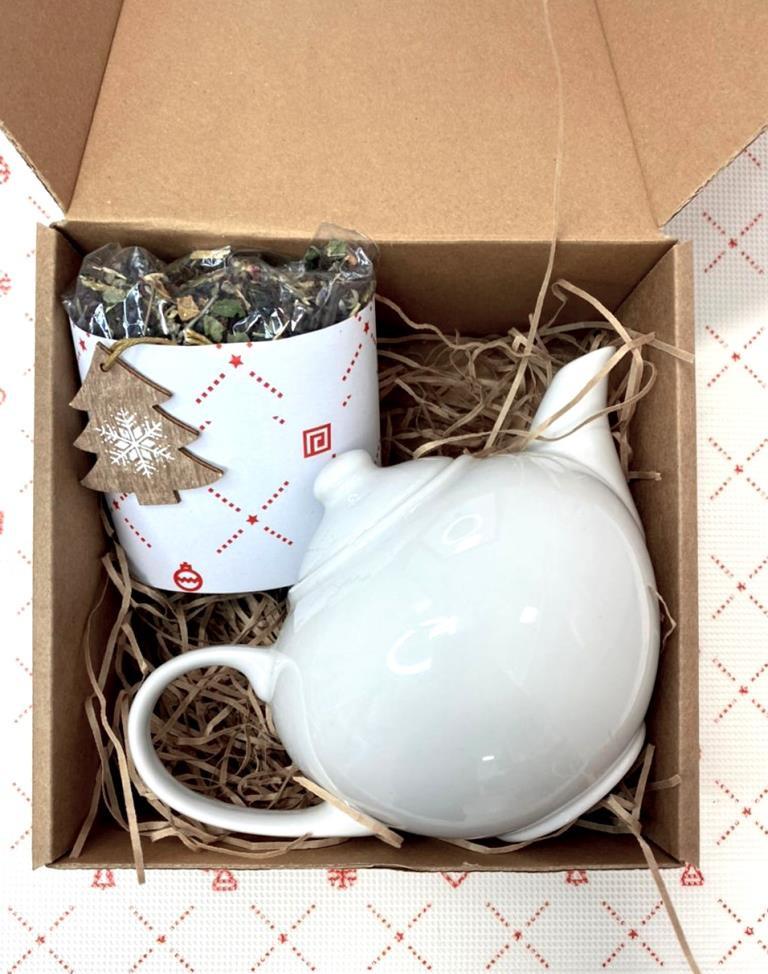 Чайный набор чайник чай в коробке