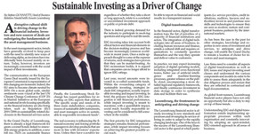 ESG investments in 2020. The outlook of Stefano Giovannetti