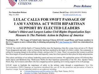 LULAC Urges House and Senate to Protect Troops