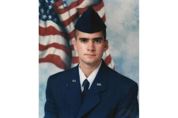 Brian D. Sicknick's New Jersey Air National Guard basic training photo from 1997. (U.S. Air Force)