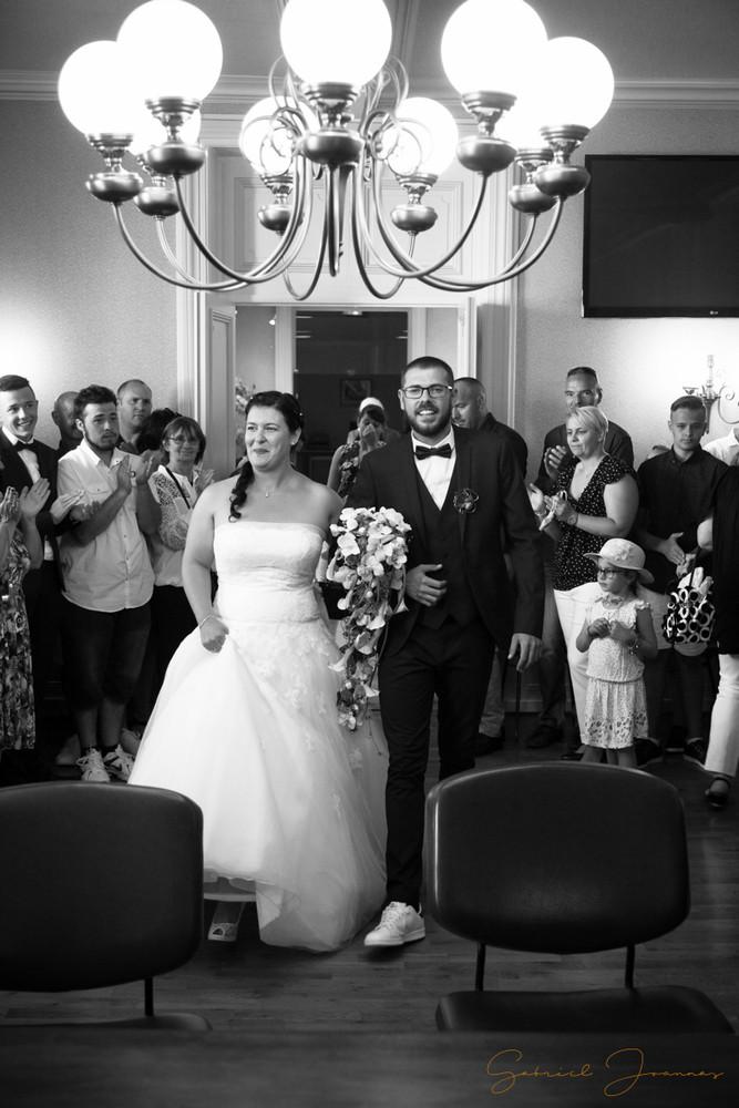 Entrée des mariées à la mairie
