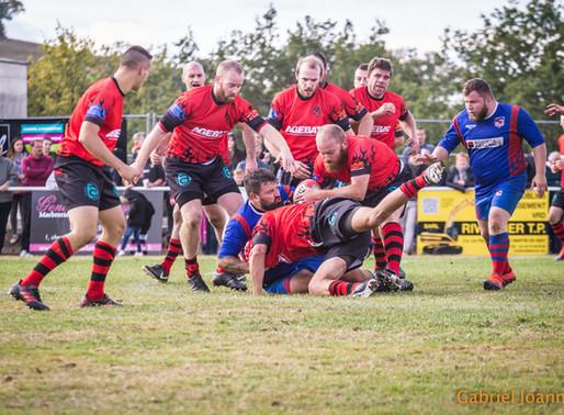 Rugby des Monts , le premier match officiel à domicile !