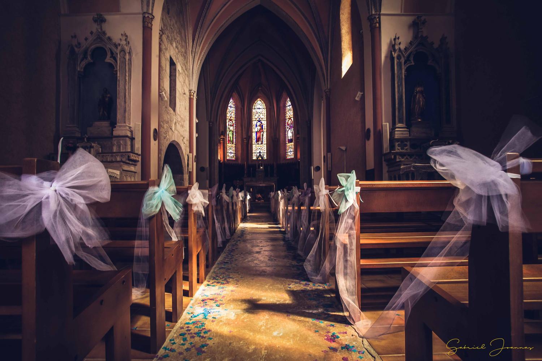 Nef centrale église catholique