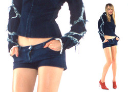 SS2003 - London Denim - Rebel Fencing Jacket and Hot Pants