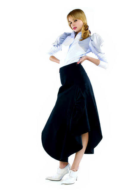 SS2003 - London Denim - Oxford Circus Inset Skirt with Victorian Shirt