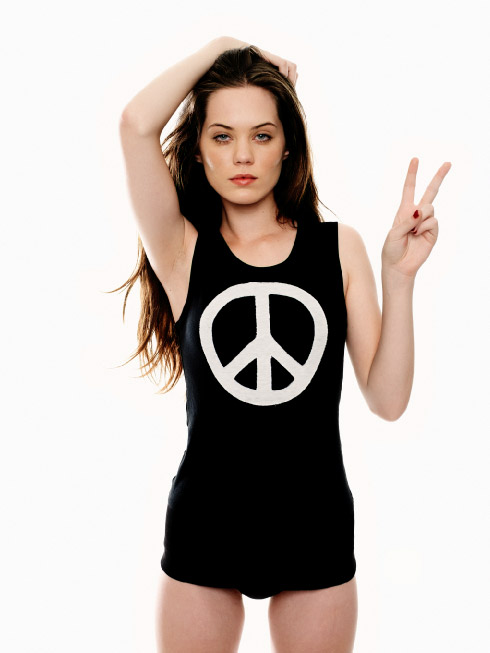 SS2007 - London Denim - Applique Peace Sign Vest