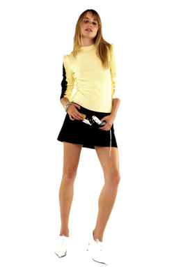 Two Tone Shorts with Barbican Mini Skirt