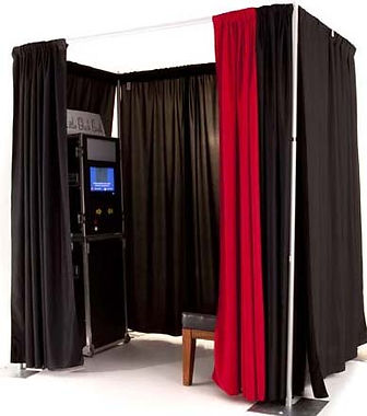 Photo Booth Rental fully enclosed for privacy
