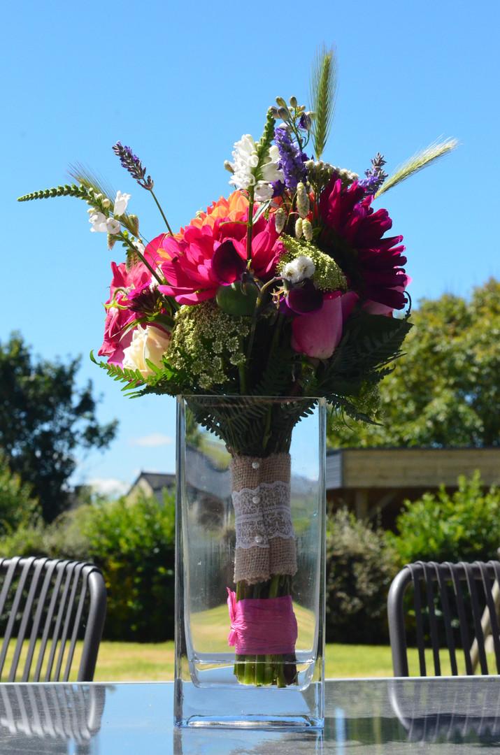 Bouquet de mariée très coloré