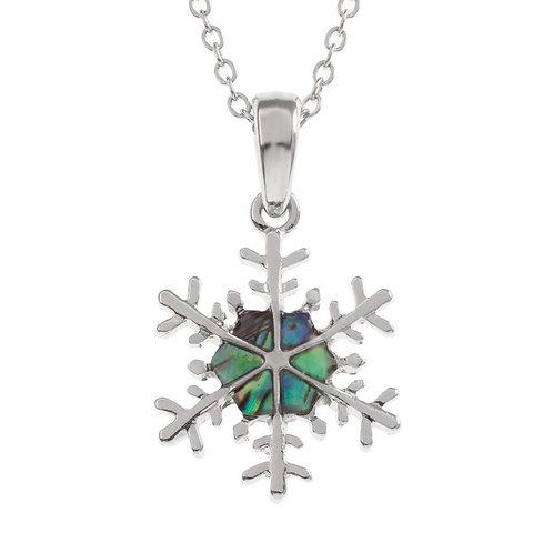Snow flake pendant & chain