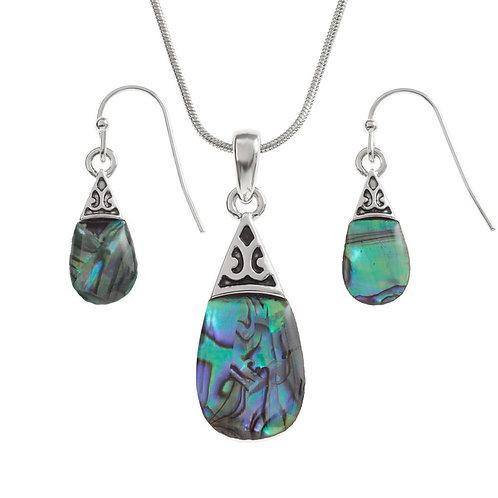 Tide Jewellery pear drop pendant & earring set