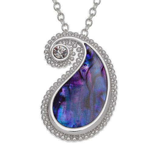 Paisley pattern pendant & chain
