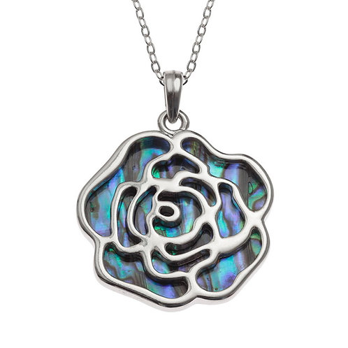 Rose pendant & chain