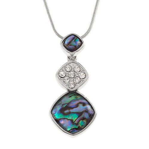 Triple diamond drop pendant & chain