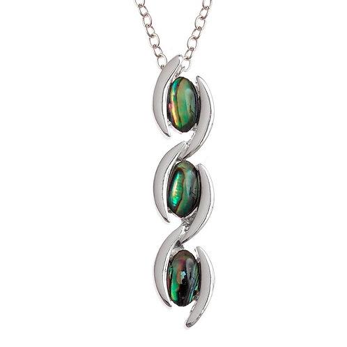 Triple drop pendant & chain