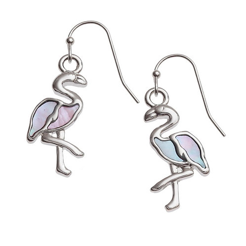 Flamingo hook earrings