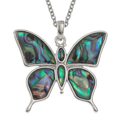 Tide Jewellery Paua Shell Butterfly pendant & chain