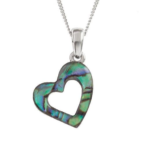Open heart pendant & chain