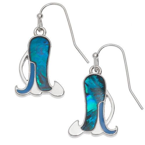 Bluebell flower hook earrings
