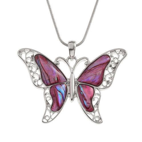 Tide Jewellery Pink Butterfly pendant & chain