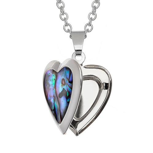 Heart locket pendant & chain