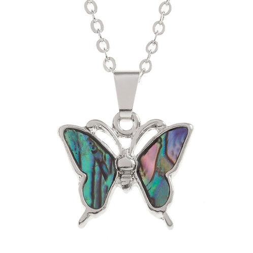 Butterfly pendant & chain