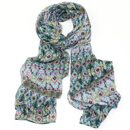 Diamon effect scarf ~ green