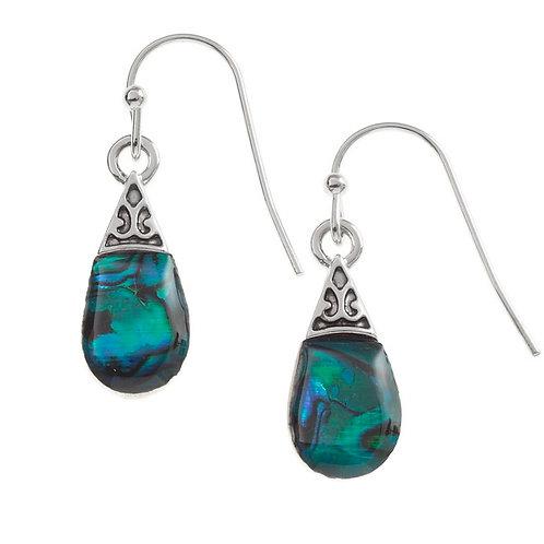 Pear drop earrings -blue