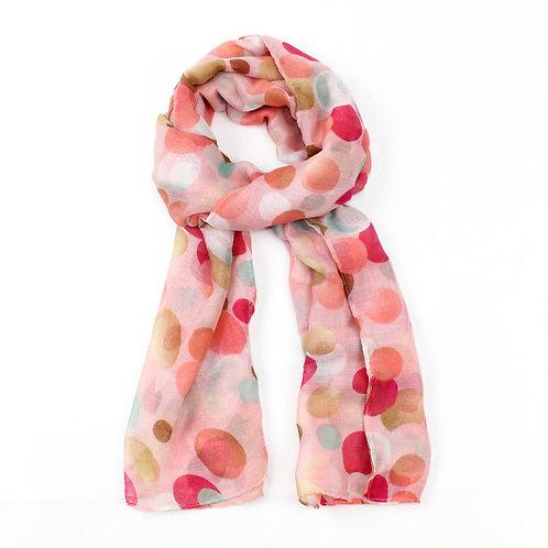 Fun spot print design scarf ~ pink