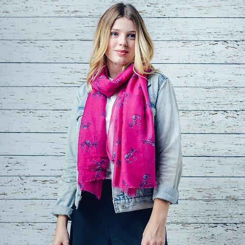 Kayla pink zebra print scarf