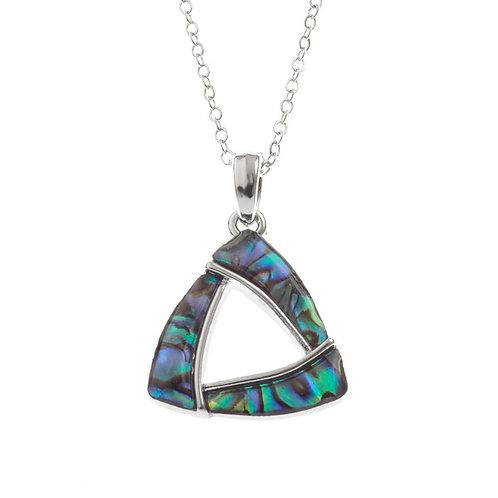 Triangular pendant & chain