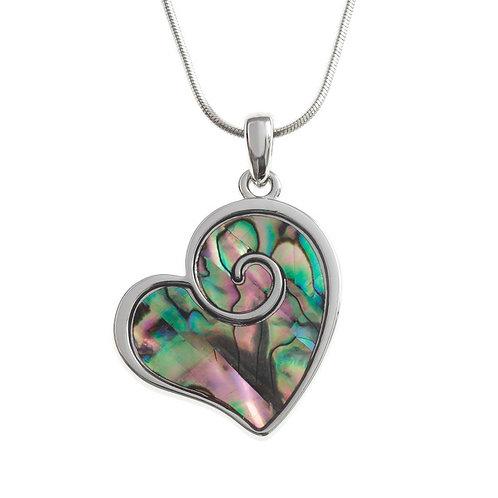 Heart swirl pendant & chain