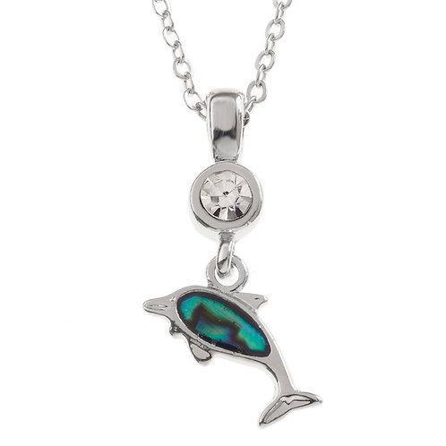 Dolphin pendant & chain