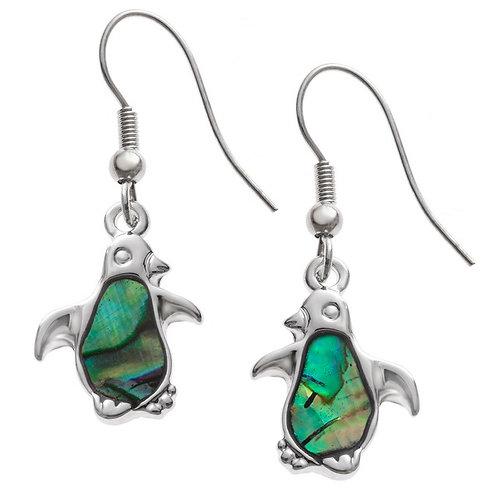 Penguin hook earrings