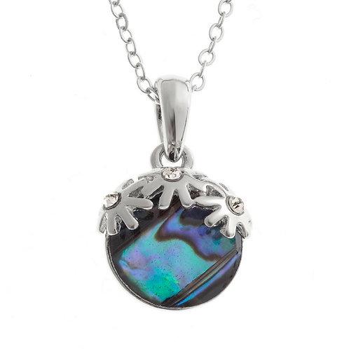 Triple flower pendant & chain