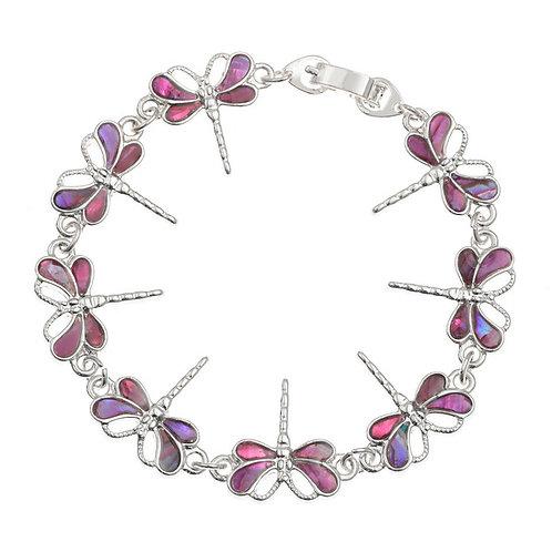 Dragonfly bracelet ~ pink