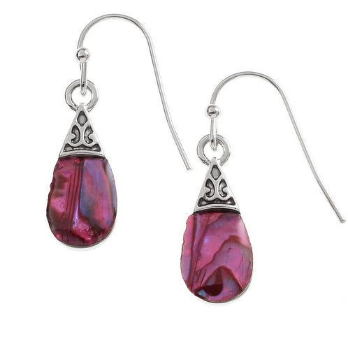 Pear drop earrings - pink