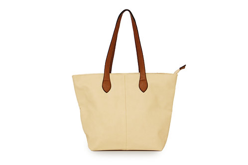Long & Son Shoulder Tote Bag ~ Beige